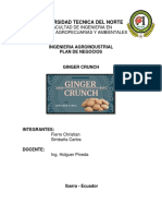 Plan de Negocio Ginger Crunch