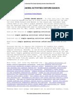 Simple Speaking Activities Oxford Basics