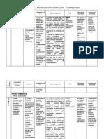Matriz de La Programación Curricular Cuarto Grado