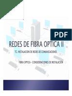 Presentacion Fibra Optica Consideraciones de Instalación