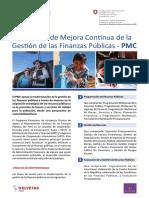 Fact Sheet - Programa de Mejora Continua de la Gestión de las Finanzas Públicas PMC