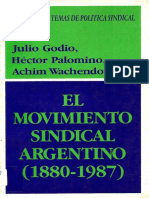 GODIO; PALOMINO - El movimiento sindical argentino (1880-1987).pdf