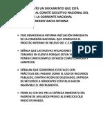 Expresión nacional por la re fundación del PRI II