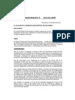 Ordenanza Municipal Modificacion Vehiculos Menores