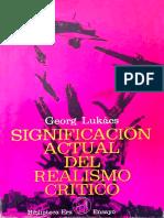 Significación actual del realismo crítico - Georg Lukacs