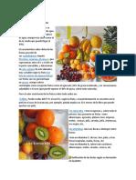 Valor Nutritivo de Las Frutas