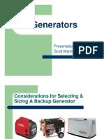 Generators revisited