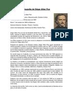 biografia de allan poe
