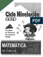 Cuadernillo Matemáticas