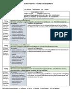 evaluation for professionalism