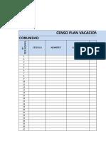Formato Censo Plan Vacacional y Reto Juvenil
