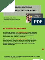 25. Manejo Del Personal. Presentacion