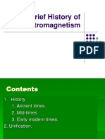 Brief History of Electromagnetism