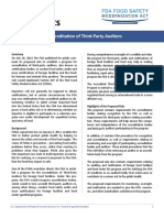 Accreditation of Third-Party Auditors - Fact Sheet