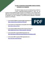 R DList for External Candidates