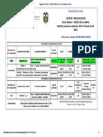 Agenda - Costos y Presupuestos - 2019 i Período 16-01 (611)