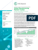 Abstract Global Manufacturing Market Tracker