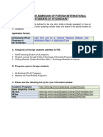 Foreign Students Guidelines