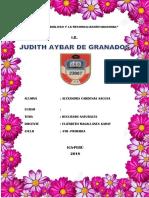 Caratula Judith Aybar de Granados