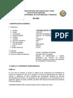 Silabo de Cont Costos II 2019-i, Mañana