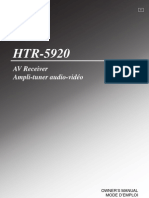 Yamaha Htr 5920 Manual