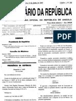 Angola - Decreto n.º 59/07 - Licenciamento Ambiental