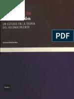 Reificación. Un estudio en la teoría del reconocimiento - Axel Honneth