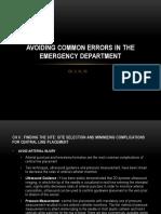 Avoiding Common Errors in the Ed