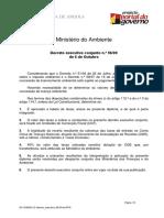 Angola - Decreto Executivo 96/09 Taxas de Licença Ambiental