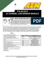 30 2212 22 Channel CAN Sensor Module Instructions