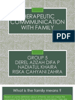 THERAPEUTIC COMMUNICATION ON FAMILY