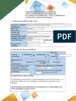 Guía de actividades y rúbrica de evaluación - Paso 2 - Reflexiono sobre vocación y ética en psicología..docx