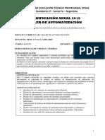 Planificación Anual 2019 Taller Automatización