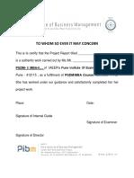 Institute Certificate Format
