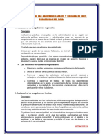 Analiza El Rol de Los Gobiernos Locales y Regionales en El Desarrollo Del País
