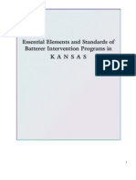 2010 Kansas Batterer Intervention Program Standards