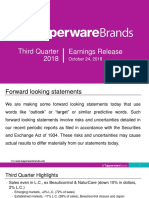 3q 18 Earnings Presentation