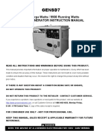 ProSeries Generator Gensd7 manual