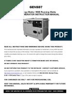 ProSeries Generator Gensd7 manual