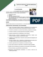 Código de Ética Para El Profesional en GASTRONIMIA
