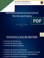 Apendicectomía convencional - Técnica quirúrgica