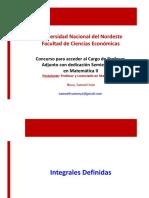 Integrales Definidas - Ciencias Económicas