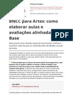 Bncc Para Artes Como Elaborar Aulas e Avaliacoes Alinhadas a Basepdf