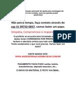 Trabalho - Desentendida Modas. (31)997320837