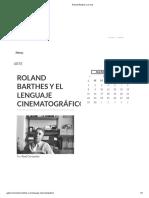 Roland Barthes y El Cine