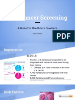 oral cancer screening seminar - alma fuentes