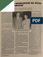 Ministra Imelda Cisneros y Edgard Romero Nava - Consecomercio 1991
