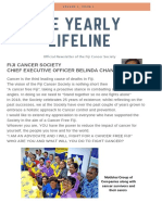 The Monthly Lifeline of the Fiji Cancer Society 2018