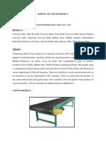Survey of Conveyor Belt