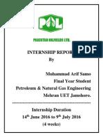 Internship Report Pakistan Oilfields Limited